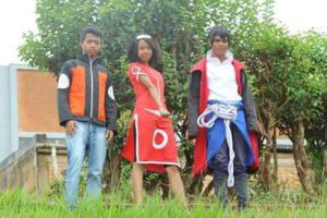 3 cosplays en formation Equipe 7 de Kakashi